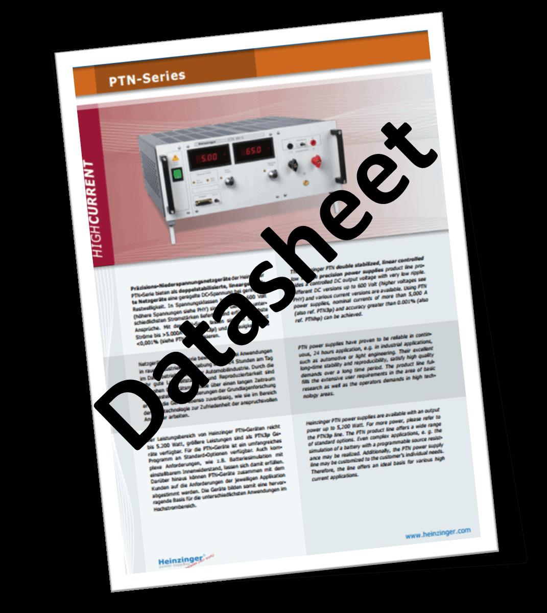Ptn Series Datasheet Icon Pulse Power Amp Measurement Ltd