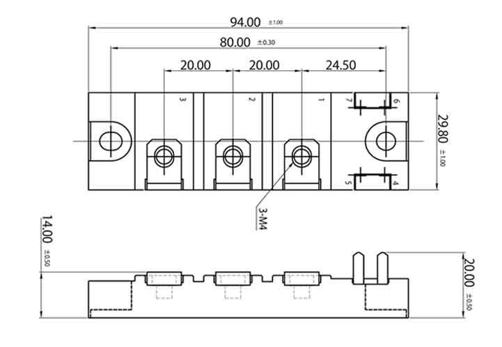 silicon carbide schottky barrier diode modules